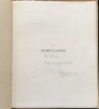 SIMULACRE. Poèmes et lithographies. Exemplaire dédicacé par l'auteur (1925). LEIRIS, Michet - MASSON, André