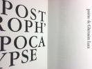 APOSTROPH'APOCALYPSE. 14 eaux-fortes de Wifredo Lam (1967)..  LUCA, Ghérasim - LAM, Wifredo