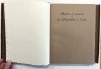 MATIÈRE ET MÉMOIRE ou les lithographes à l'école (1944-1945). DUBUFFET, Jean - PONGE, Francis