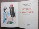 Lettres à une inconnue. Illustré par Dignimont.. André Maurois
