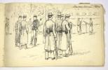 Carnet de croquis et dessins, fin XIXe-début XXe..