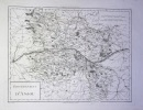 Gouvernement d'Anjou. . (CARTE D'ANJOU). TARDIEU, [Pierre-François].