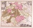 Neue Sächsischen Post-Charte mitt denem Post-Wegen und Strasse.... (CARTE D'ALLEMAGNE, SAXE-THURINGE-ANHALT). SCHENK, P.