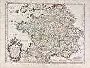 Le Royaume de France, et ses acquisitions vers les Pays-Bas, l'Allemagne, l'Italie, et l'Espagne.... (CARTE DE FRANCE). SANSON D'ABBEVILLE.