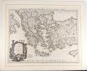 Carte de la Grèce.... (CARTE DE GRÈCE). DE L'ISLE, G.