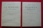 """""""La Bohème et mon c?ur suivi de Chansons aigres-douces et de Petits airs. - Poèmes retrouvés (1904-1923) de Francis Carco"""". """"Francis Carco Derain"""""""