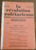 """La Révolution Prolétarienne ? revue bi-mensuelle syndicaliste révolutionnaire"". ""Victor Serge Maurice Chambelland Robert Louzon R. Hagnauer A. Ciliga ..."