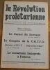 """""""La Révolution Prolétarienne ? revue bimensuelle syndicaliste révolutionnaire"""". """"etc? Pierre Monatte Maurice Chambelland Robert Louzon R. Hagnauer J. ..."""