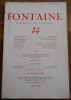 """""""Fontaine n°34 Revue Mensuelle de la Poésie et des Lettres Françaises"""". """"Max Jacob Yvan Goll Roger Caillois Pierre-Jean Jouve Comte Sforza André ..."""