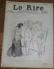 """""""Dans Les Coulisses des Folies-Bergères Mrs Lona Barrison avec son manager et époux ? Toulouse-Lautrec ? Le Rire n°84"""". Toulouse-Lautrec"""