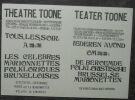 """""""Affiches du Théâtre Toone Marionnettes Bruxelloises""""."""
