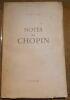 """Notes sur Chopin"". ""André Gide"""
