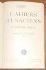 """""""Cahiers Alsaciens ? Elsässer Hefte"""". """"? M. Wilmotte Elsa Koeberlé P.Harelle E. Stadler H. Lichtenberger F. Marck E. Schuré"""""""