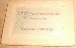 """""""12 Cartes Postales du Paquebot « Paris » de La Compagnie Générale Transatlantique""""."""