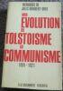 """""""Mon évolution du tolstoïsme au communisme 1891-1921"""". """"Jules Humbert-Droz"""""""