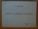 """""""Gesta Laioris Golardi"""". """"Luc Cornet-Dreze"""""""