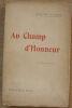 """""""Au champ d'honneur"""". """"Hugues Le Roux"""""""