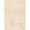 Lettre autographe signée à Adam Salomon. Sainte-Beuve, Charles-Augustin