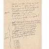 Manuscrit autographe : Chanson. Guitry, Sacha