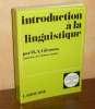 Introduction à la linguistique, Paris, Larousse, 1969.. GLEASON (H.A.)