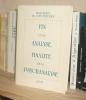 Fin d'une analyse, finalité de la psychanalyse, Colloque à la Sorbonne 18 au 24 mai 1987, Paris, Solin, 1989.. COLLECTIF - Mouvement du coût Freudien