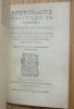 Aristotelis Aristotelis Ethicorvm, sive De Moribvs, ad Nicomachvm, libri decem. Adiecta ad contextum Græcum interpretatione latina Dionysii LAMBINI ...