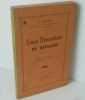 Cours élémentaire de réglage. Préface de M. Baillaud. Besançon. Millot Frères. 1940.. DESSAY, A.