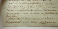 Lettre autographe signée datée du 24 août 1791.. KELLERMANN, François Christophe