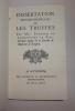 Dissertation physico-médicale sur les truffes. Avignon. Roberty & Guilhermont. 1766.. PENNIER DE LONGCHAMP, Fils
