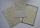 Lettres autographes signées d'Alphonse Chodron de Courcel.1909-1910-1912.. CHODRON DE COURCEL, Alphonse