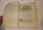Ordonnance du Roi concernant la désertion du 1er juillet 1786. Paris. Imprimerie Royale. 1786.. MONARCHIE FRANÇAISE