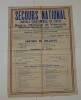 Secours National. Contrôle départemental du textile. Imprimerie Charentaise. Angoulême. 1941.. ÉTAT FRANÇAIS - PRÉFECTURE DE LA CHARENTE - 1941