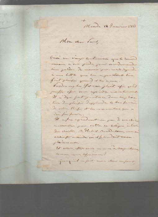 [Manuscrits]. - Deux lettres autographes.. BRUMAULD ..//.. Révérend Père Brumauld.
