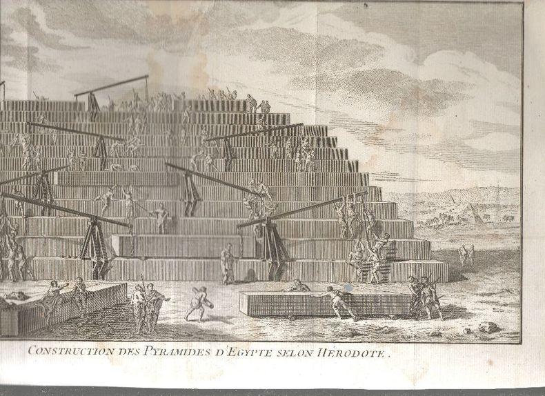 EGYPTE -  9 gravures du 18e siècle..