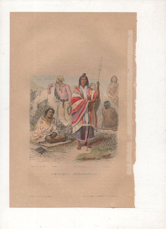 Amérique méridionale - Costumes divers.. PHILIPPOTEAUX / PIERRE ..//.. Henri Félix Emmanuel Philippoteaux, 1815-1884 (peintre, illustrateur, graveur) ...