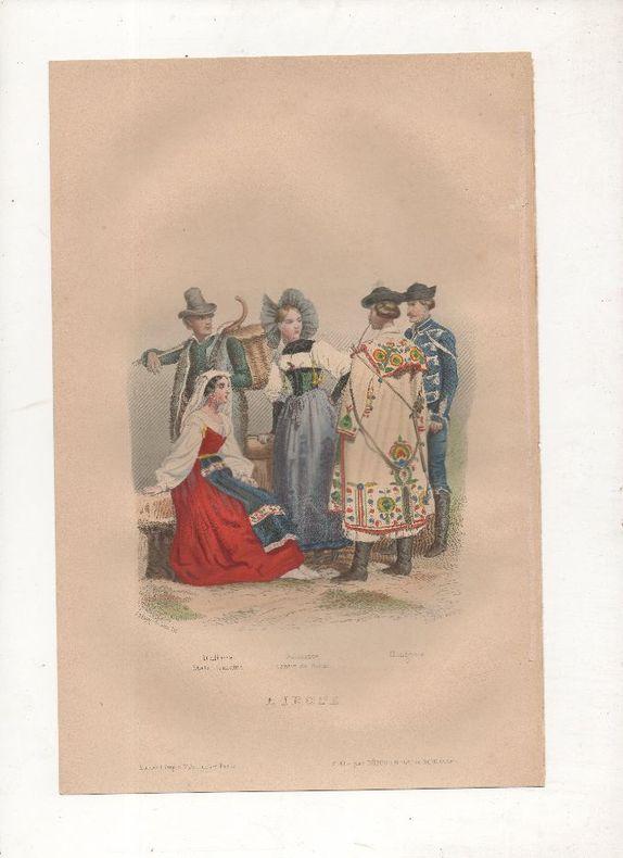Europe - Costumes de Suisse, Italie, Hongrie.. PHILIPPOTEAUX / PIERRE ..//.. Henri Félix Emmanuel Philippoteaux, 1815-1884 (peintre, illustrateur, ...