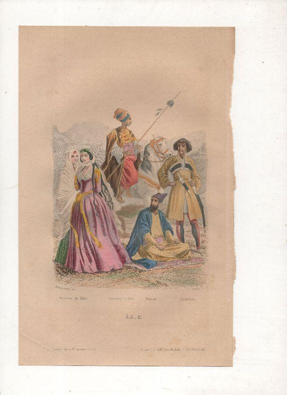 ASIE - Costumes de Perse et d'Asie centrale.. PHILIPPOTEAUX / PIERRE ..//.. Henri Félix Emmanuel Philippoteaux, 1815-1884 (peintre, illustrateur, ...