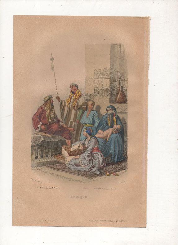 Afrique - Costumes de nomades.. PHILIPPOTEAUX / PIERRE ..//.. Henri Félix Emmanuel Philippoteaux, 1815-1884 (peintre, illustrateur, graveur) / Pierre ...