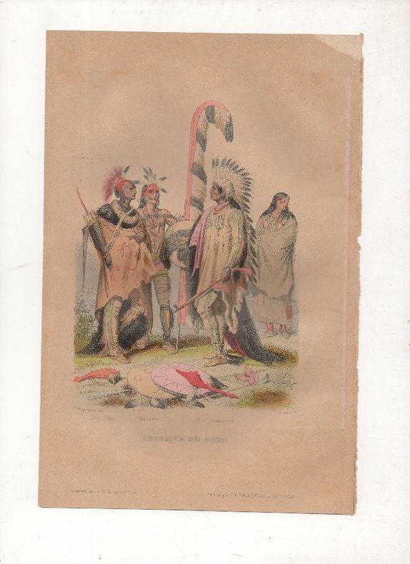 Costumes d'Amérique du nord - Indiens.. PHILIPPOTEAUX / WALTNER ..//.. Henri Félix Emmanuel Philippoteaux, 1815-1884 (peintre, illustrateur, graveur) ...