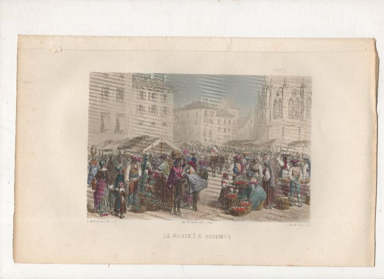 Le marché à Bayonne.. DURAND Godefroy (Godefroy-Durand, signature) / WILLMANN Ed. ..//.. Godrefroy Durand (1832 - ? ), peintre, illustrateur / Edouard ...