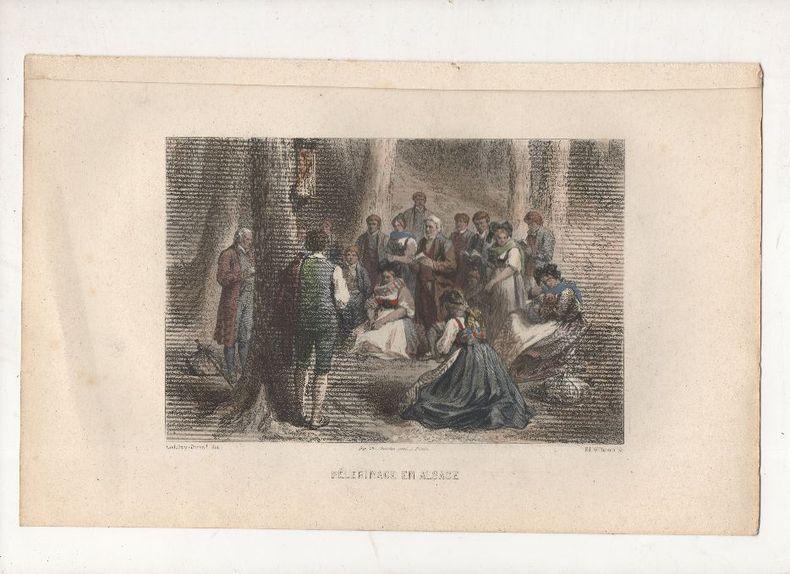 Pélerinage en Alsace.. DURAND Godefroy (Godefroy-Durand, signature) / WILLMANN Ed. ..//.. Godrefroy Durand (1832 - ? ), peintre, illustrateur / ...