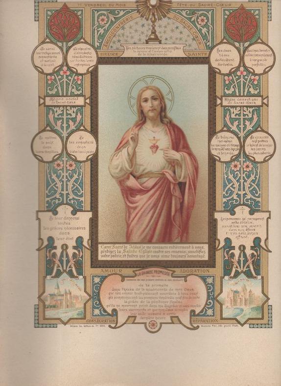 [Chromolithographie] - Archiconfrérie du Sacré-Coeur..