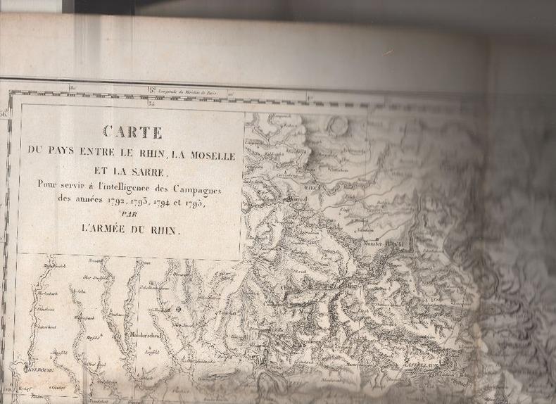 Carte du pays entre le Rhin, la Moselle et la Sarre, pour servir à l'intelligence des campagnes des années 1792, 1793, 1794 et 1795 par l'Armée du ...