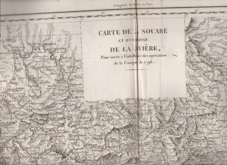 Carte de la Souabe et d'une partie de la Bavière pour servir à l'intelligence de la campagne de 1796.. DHOUDAN / MICHEL ..//.. Graveurs : Dhoudan / ...