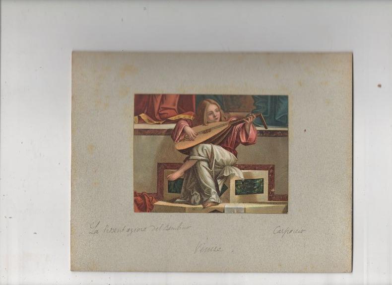 [Chromolithographie] - Il Putto del Quadro la presentazione del bambino Gesù al Tempio.. CARPACCIO ..//.. Vittore Carpaccio, ou Victor Carpaccio ...