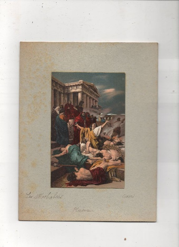 [Chromolithographie] - Les Macchabées (Martyr des Macchabées).. CISERI ..//.. Antonio Ciseri (1821-1891).