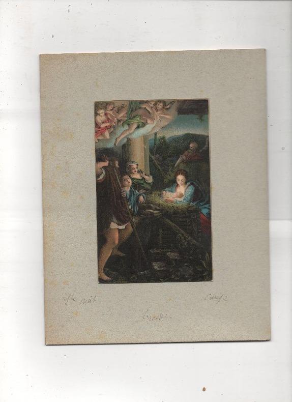 [Chromolithographie] - Sainte nuit (Madonna col Bambino e santi).. LE CORREGE ..//.. Antonio Allegri da Correggio, dit Il Correggio, en français Le ...