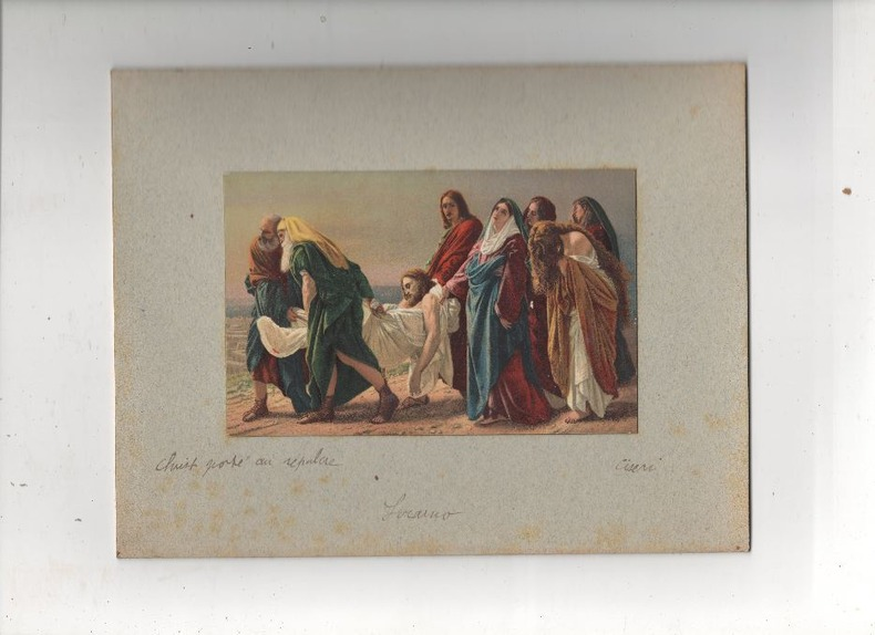 [Chromolithographie] - Christ porté au sépulcre (aussi : Déposition du Christ).. CISERI ..//.. Antonio Ciseri (1821-1891).