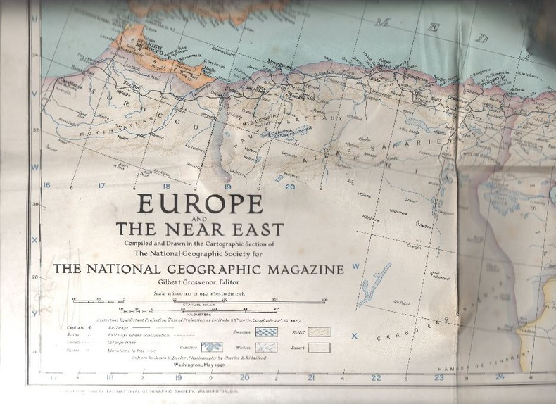 Carte géographique. - Europe and the Near East.. [The National Geographic Magazine].