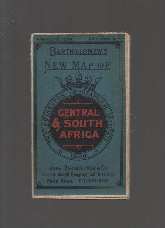 [Carte géographique] - Bartholomew's New Map of Central & South Africa.. BARTHOLOMEW J. G. ..//.. John George Bartholomew, cartographe (1860-1920).